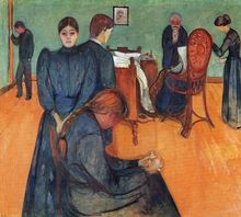 Edvard Munch: Death in the Sickroom, goes