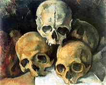 Paul Cézanne: Pyramide de crânes - Le meurtre