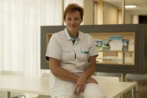 Hoofdverpleegkundige Sabine Bervoets